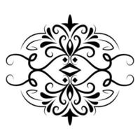 divider decoration classical vintage icon vector