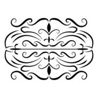 divider decoration victorian flourishes icon vector