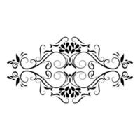 divider decoration rustic floral icon vector