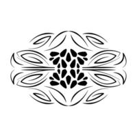 divider decorative floral scroll icon vector
