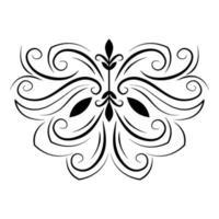 divider elegant swirls decoration vintage icon vector