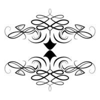 divider decoration filigree victorian icon vector