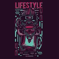 lifestyle hip hop illustration tshirt design