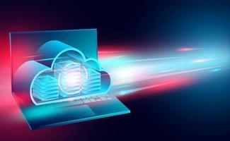Cloud technology concept banner
