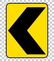 Yellow traffic warning sign vector