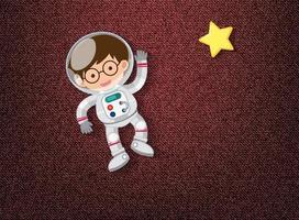 lindo elemento sobre tema espacial vector