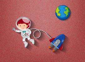 Cute element on space theme vector