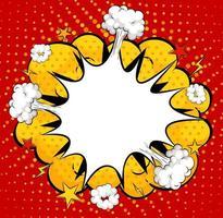 Blank boom comic speech bubble vector