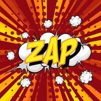 zap redacción comic discurso burbuja en ráfaga vector