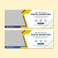 Marketing agency social media banner template