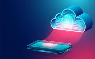 banner de concepto de tecnología de nube
