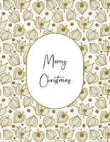 Merry Christmas. Physalis winter cherry seamless pattern texture background. vector