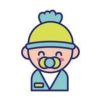 little baby kawaii line style