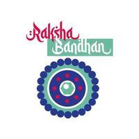 happy raksha bandhan flower decoration flat style