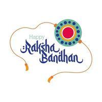 happy raksha bandhan flower wristband accessory flat style