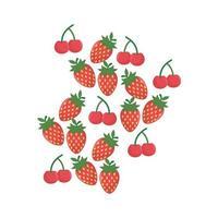 diseño de vector de fruta fresa aislada