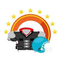 american football helmet with shoulder gear vector
