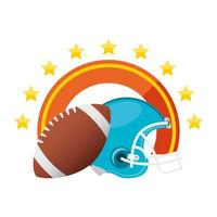 american football and helmet