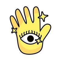 hands with stars splash magic sorcery vector