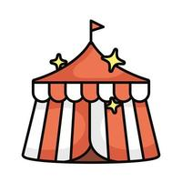 tent magic sorcery isolated icon vector