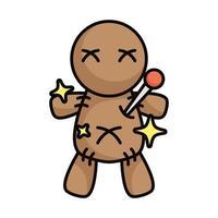 voodoo doll magic sorcery icon vector