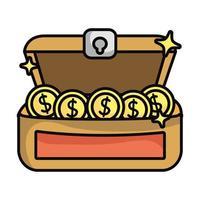 cofre del tesoro con icono de monedas