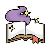 magic sorcery book isolated icon vector