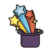 magic top hat sorcery isolated icon vector