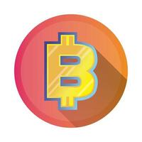 bitcoin symbol detailed style icon
