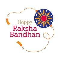 happy raksha bandhan flower wristband accessory flat style vector