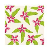 fondo de patrón tropical de plantas de flores rosadas vector