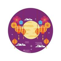 China lanterns vector design