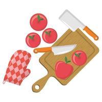 diseño de vector de fruta de manzana aislada
