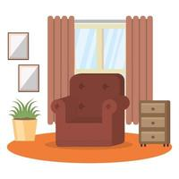 Living room vector design