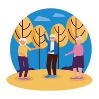 Group of grandparents vector design