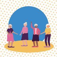 Grandmothers cartoons vector design