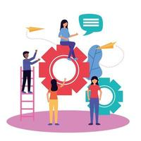 People with teamwork icon vector design