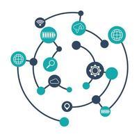 diseño de redes sociales y multimedia vector