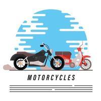 viejo helicóptero y bicicleta de calle vector