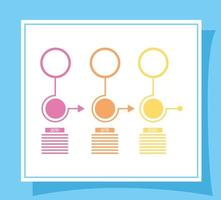 business infographic with years icons vector