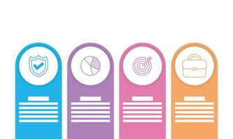 infografía empresarial con iconos circulares vector
