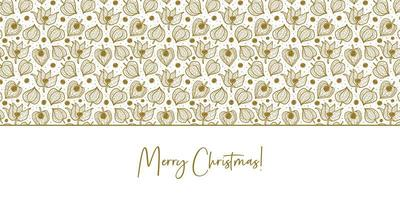 Physalis, winter cherry seamless pattern texture background. Floral packaging design. vector