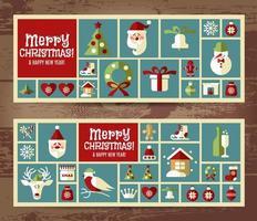ilustración de navidad. vector conjunto de iconos.