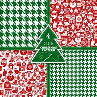 Christmas seamless pattern of icons and fashion texture. vector