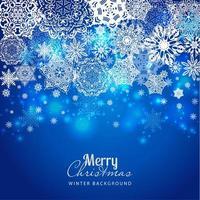 Snowflake background on blue
