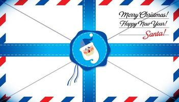 Mail template of Santa Claus