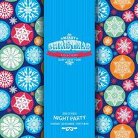 Bright seamless pattern of snowflakes