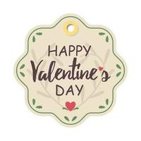 Valentine's day label or tag vector