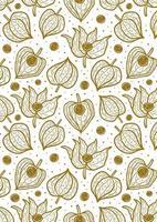 Physalis, winter cherry seamless pattern, texture, background.