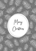 Merry Christmas greeting card. Holiday decoration.